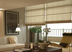 Римские шторы на большие окна