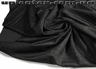 Костюмная ткань стрейч клетка двусторонняя (Турция)