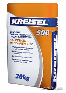 Штукатурка машинная цементно-известковая гладкая KREISEL KALKZEMENT MASCHINENPUTZ 500 (8-25 мм)