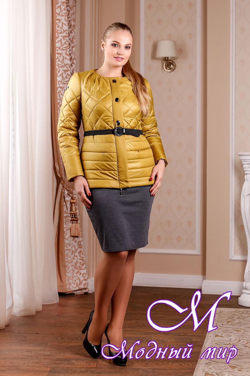 Молодежная женская демисезонная куртка цвета золото (р. 44-54) арт. 960 Тон 6