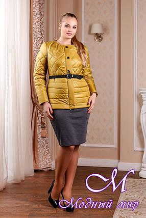 Молодежная женская демисезонная куртка цвета золото (р. 44-54) арт. 960 Тон 6, фото 2