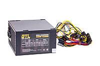 Блок питания GTL 450W, 120 mm, 20+4pin, 1x4pin, SATA х 3, Molex 2x4pin, 1х6pin, кабеля немодульные, шнур питания в комплекте