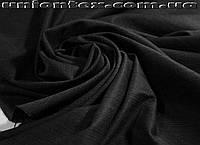 Костюмная ткань стрейч полоска черная (Турция)