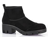 Замшевые ботинки на тракторной подошве