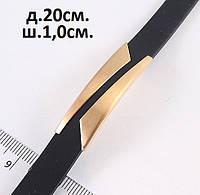 Неймоверно красивый мужской браслет с вставкой золотого цвета , фото 1