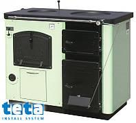 Котел-плита твердотопливный KALVIS-4AB регулятор тяги (2конфорки+духовка) 17 кВт
