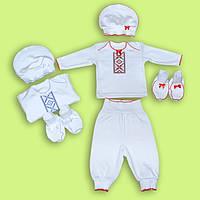 Красивый детским костюм для малышей выполнен очень стильно и нарядно 62-74