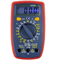 Мультиметр цифровой DT33A, портативный тестер мультиметр