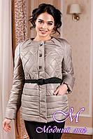 Молодежная женская демисезонная куртка оливкового цвета (р. 44-54) арт. 960 Тон  55
