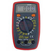 Мультиметр универсальный DT-33С, карманный цифровой тестер мультиметр