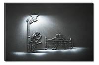Светящиеся картина Startonight Саксофонист Черно Белые  Печать на Холсте Декор стен Дизайн дома Интерьер