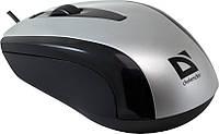 Мышь Defender Optimum MM-140 S Silver, Optical, USB, 800 dpi