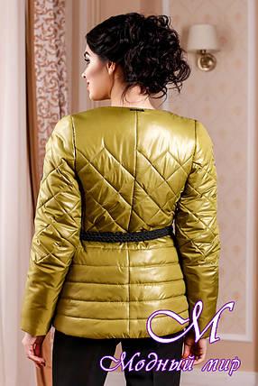 Молодежная женская демисезонная куртка цвета красное золото (р. 44-54) арт. 960 Тон  66, фото 2