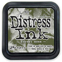 Штемпельная подушка Ranger Distress Ink Pad, размер 6х6 см Forest Moss
