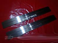 Ford Connect 2014+ гг. Накладки на дверные пороги (2 шт, нерж)