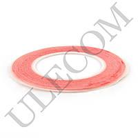 Двухсторонний скотч для приклеивания сенсоров (тачскринов), ширина 1 мм., красный