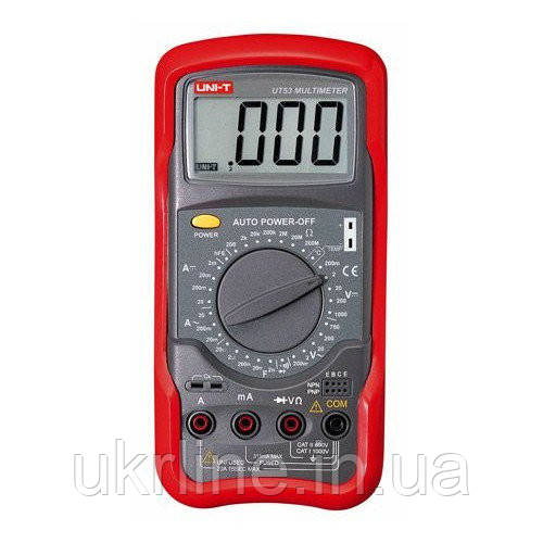 Мультиметр универсальный UNI-T UT53, цифровой тестер мультиметр  - Интернет-магазин UkrLine в Киеве