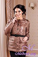 Молодежная женская демисезонная куртка коричневого цвета (р. 44-54) арт. 960 Тон  100