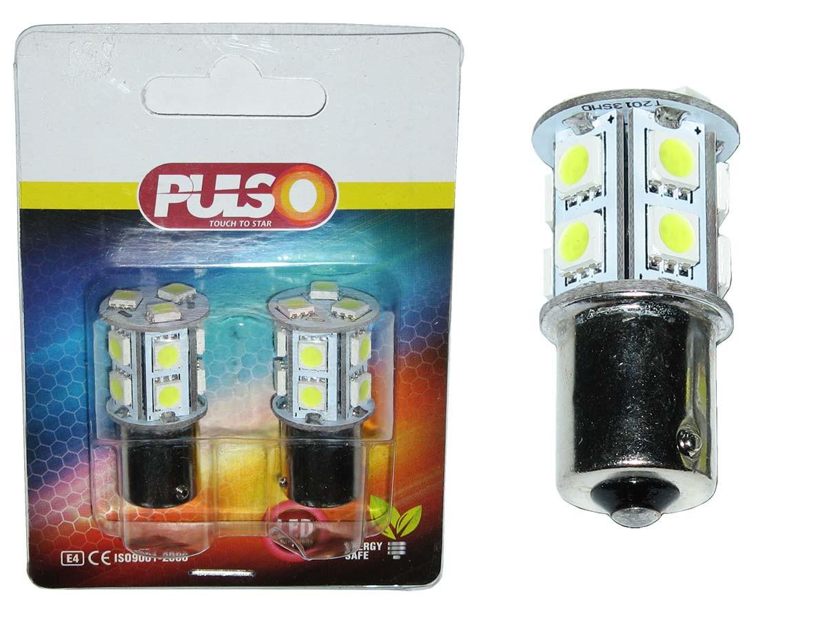 Лампочка 12V с больш. цок. PULSO LP-25130 S25/BA15s 13LED/SMD-5050 White/1 конт.