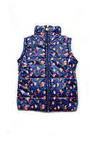 Куртка-жилетка для девочки, детская весенняя жилетка,  демисезонная детская жилетка