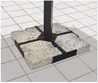 Основа для зонта гранит ГАБРО (серый). Размер: 40х40 h-5 см.