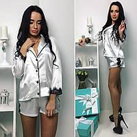 Женская пижама: шорты с рубашкой