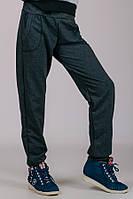 031015 - Детские трикотажные штаны для девочек Гольфстрим (темно-серые)