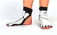 Защита стопы носки-футы для тхэквондо WTF BO-2601-W (PU, р-р S-XXL, белый)
