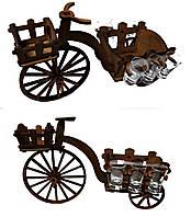 Мини-бар с рюмками деревянный Велосипед