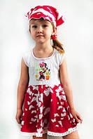 Летнее платье с косынкой для девочки
