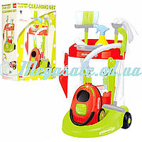 Детский набор для уборки с тележкой и пылесосом Cleaning Set: 9 аксессуаров в комплекте