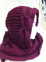 шарф снуд капор крупной  вязки