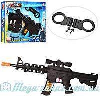 Детский игровой автомат Полиция (набор полицейского) с шлемом и наручниками: звук/свет/лазер