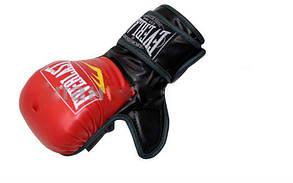 Перчатки для смешанных единоборств MMA PU ELAST BO-4612-RBK(M) (р.M, красный-черный)