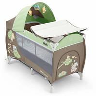 Детская кровать-манеж CAM Daily Plus Зеленый со зверятами C225