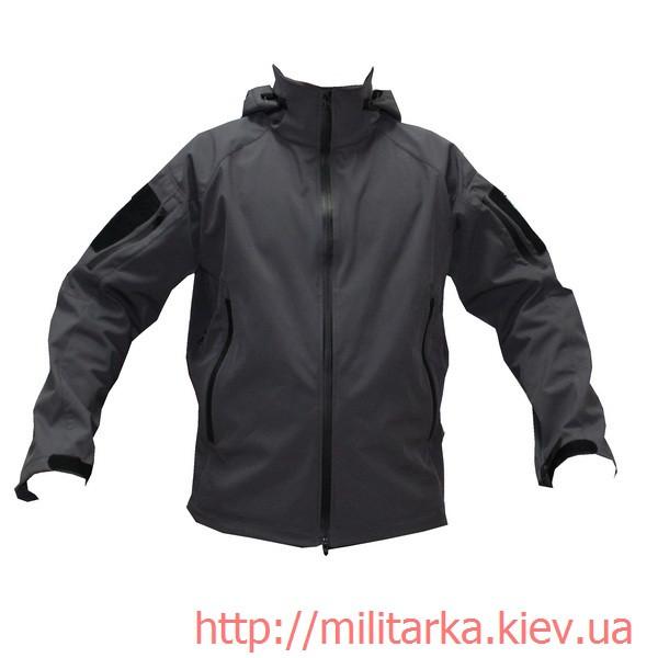 Куртка softshell Camo-tec с капюшоном серая