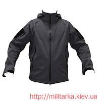 Куртка softshell Camo-tec с капюшоном серая, фото 1