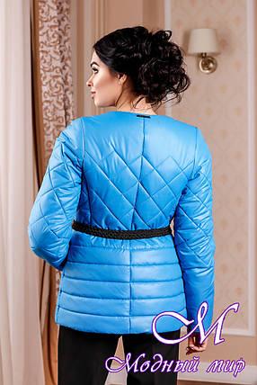 Молодежная женская демисезонная куртка голубого цвета (р. 44-54) арт. 960 Тон  113, фото 2