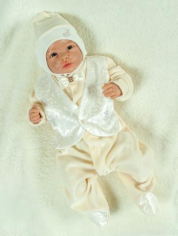"""Подарочный набор для мальчика """"Сеньор"""" кремовый+белый"""