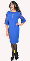 Платье с гипюровым рукавом большой размер