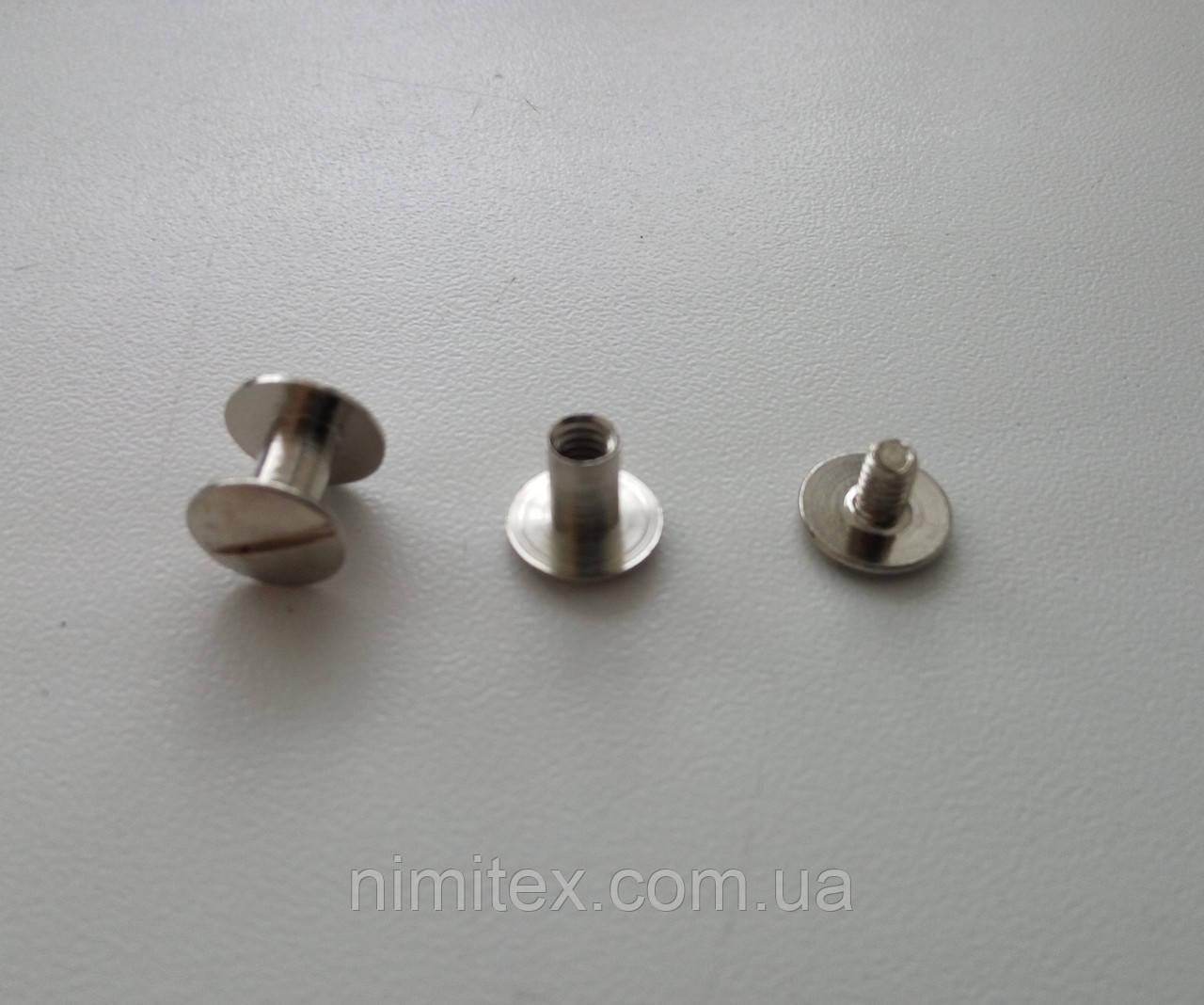 Винт ременной 6 мм никель