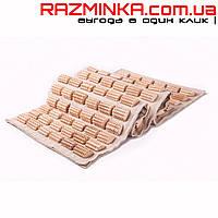 Ортопедический массажный коврик деревянный ЁЖИК 90х40 см