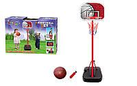Стойка баскетбольная (мобильная) детская  (измен. высоты, max h-166см, сталь, пластик, винил)