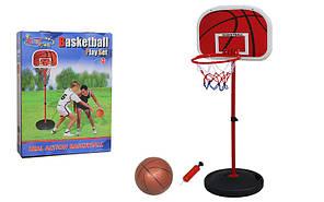 Стойка баскетбольная (мобильная) детская  (измен. высоты, max h-133см, сталь, пластик, винил)