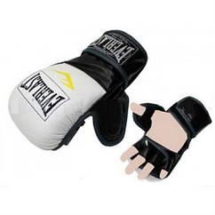 Перчатки для смешанных единоборств MMA PU ELAST BO-4612-WBK(M) (р. M, белый-черный)