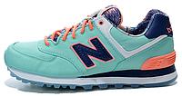 Женские кроссовки New Balance 574 (Нью Баланс) бирюзовые
