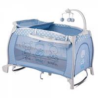Детская кровать-манеж Bertoni iLounge 2L Rocker Blue Friends