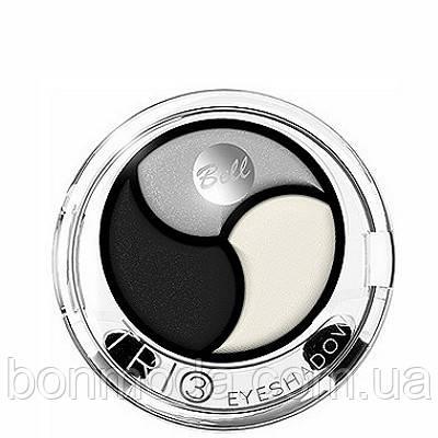 Тени для век 3-цветные Bell Trio EyeShadow № 01