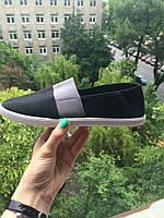 Летние эспадрильи мужкие черные с серым