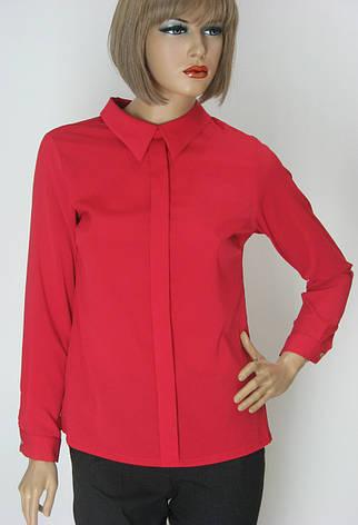 червона шифонова блузка Excup, фото 2